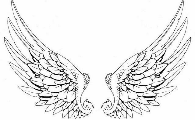 Universal image for angel wing stencil printable