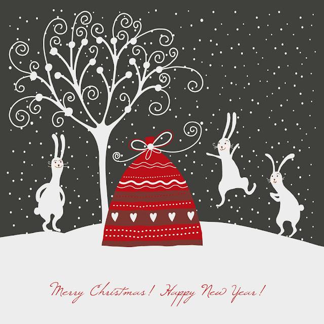 Christmas scenery iPad mini wallpaper