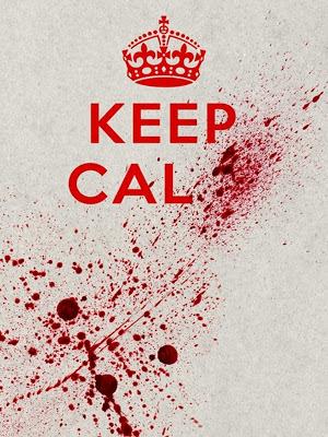 Keep Calm Blood Splatter beer bottle label@northmanspartyvamps.com