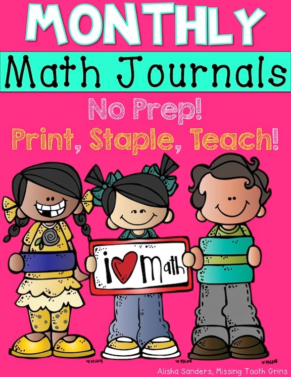 https://www.teacherspayteachers.com/Product/Monthly-Math-Journals-BUNDLE-No-Prep-1507956
