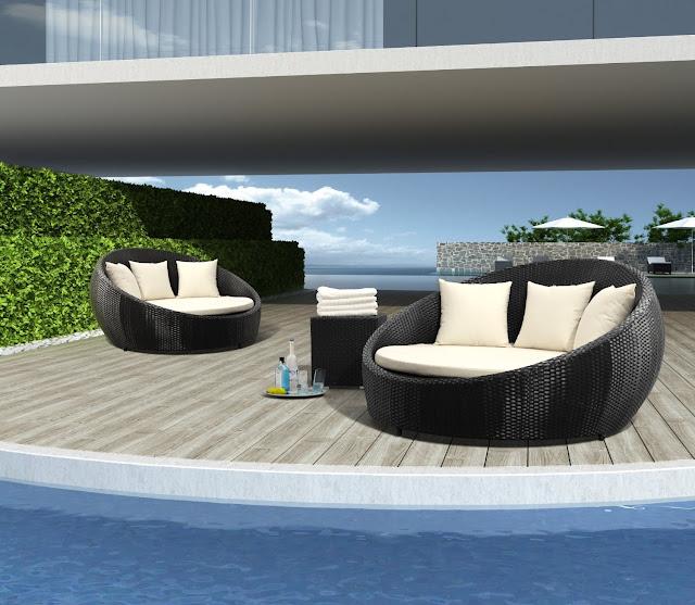 Cama mueble para patio patios y jardines - Muebles de patio ...