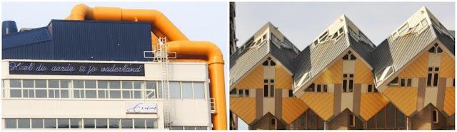 Biblioteca Central de Rotterdam y Casas cubicas