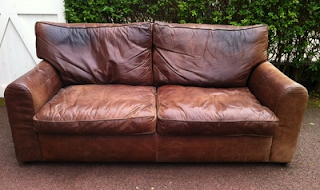 vintage leather sofa ebay