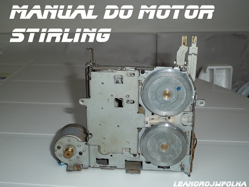 Manual do motor Stirling, máquina de toca fitas auto reverce