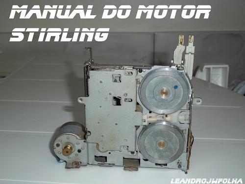 Manual do motor Stirling, máquina de toca fitas auto reverce