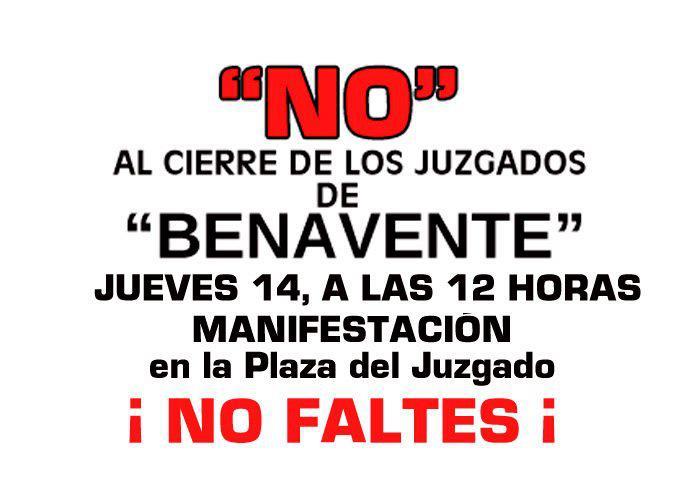 Agenda benavente manifestaci n contra el cierre de los for Juzgado de benavente