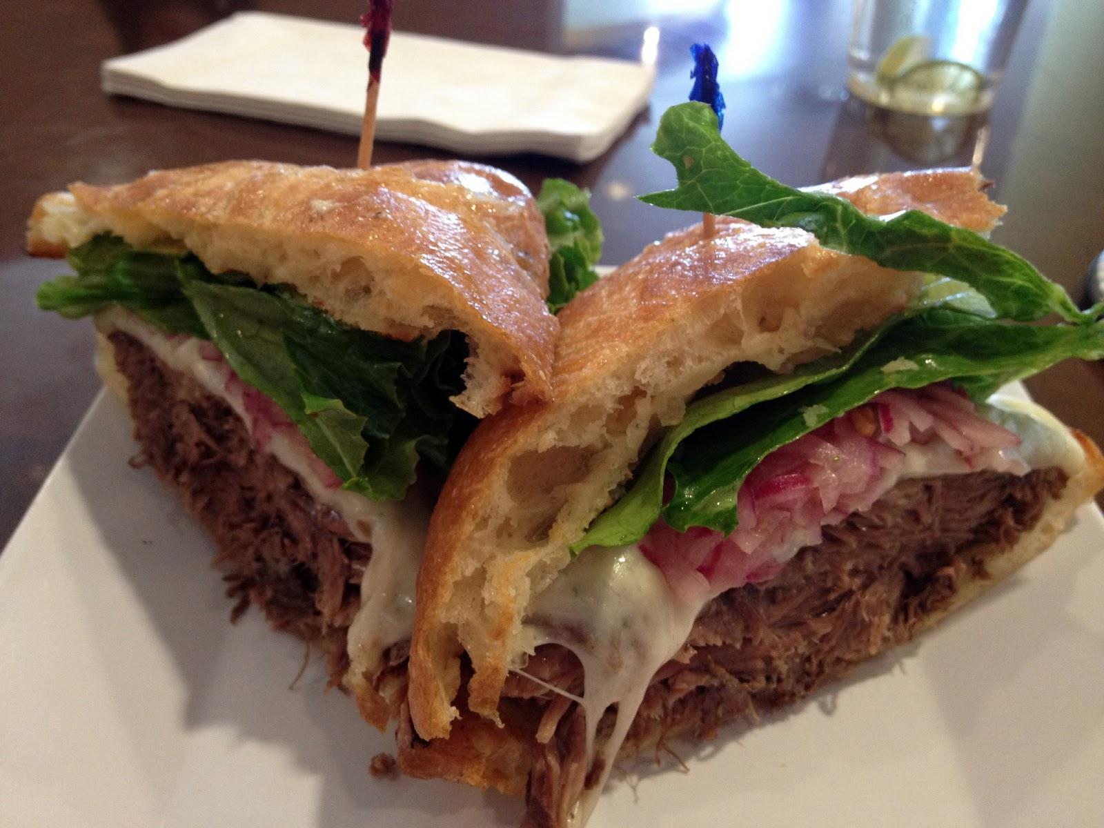 food blogger, utah food reviews, food in utah, places to eat in utah, blue lemon, artisan sandwich, slow braised short rib, short ribs,