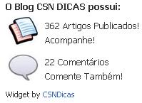 Widget Grátis de Postagens e Artigos do Blog