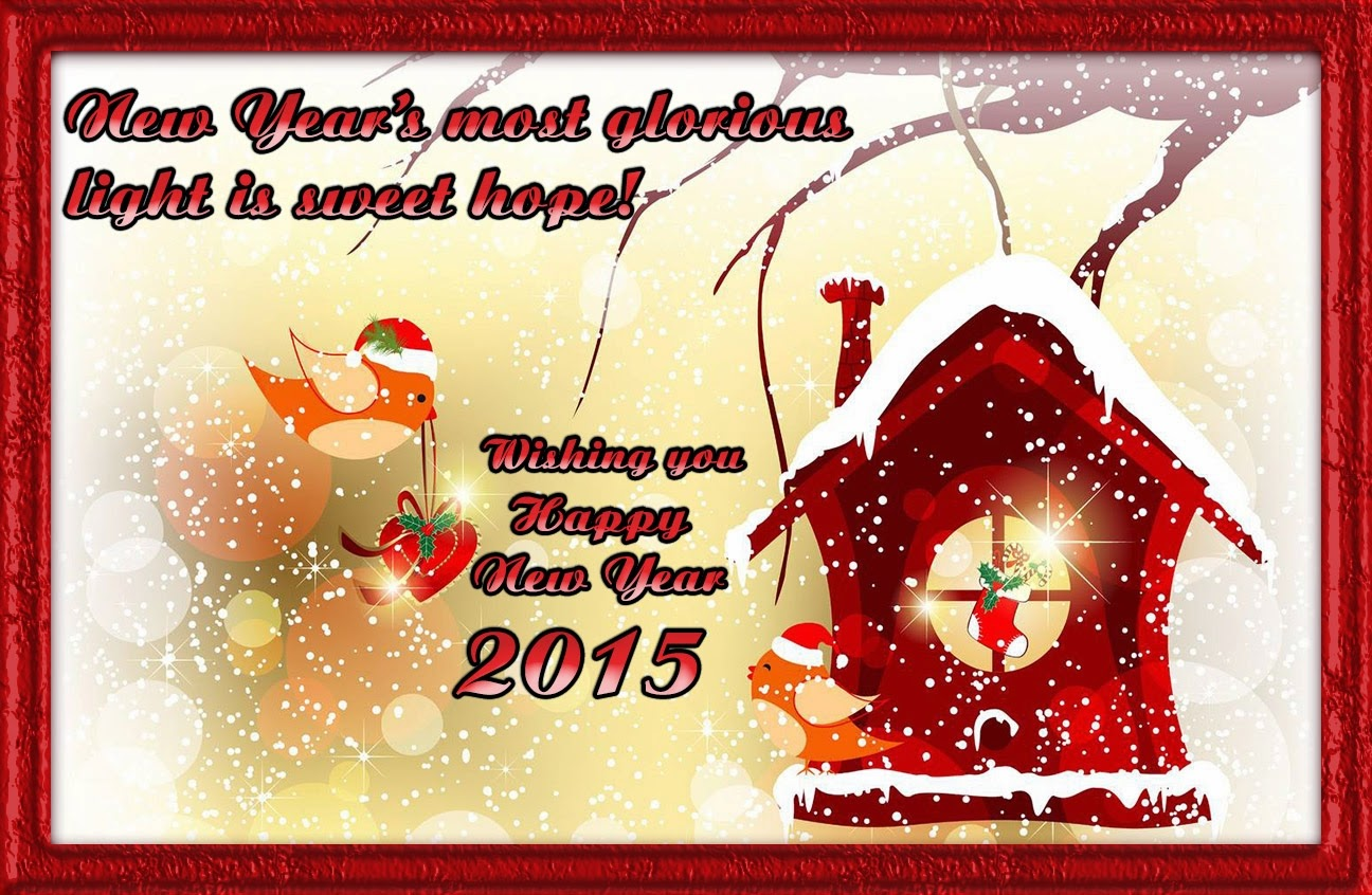 Beautiful Happy New Year Wishes Wallpapers 2015
