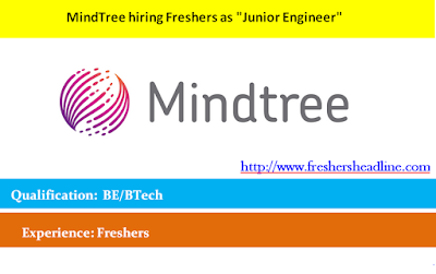 "MindTree hiring Freshers as ""Junior Engineer"""