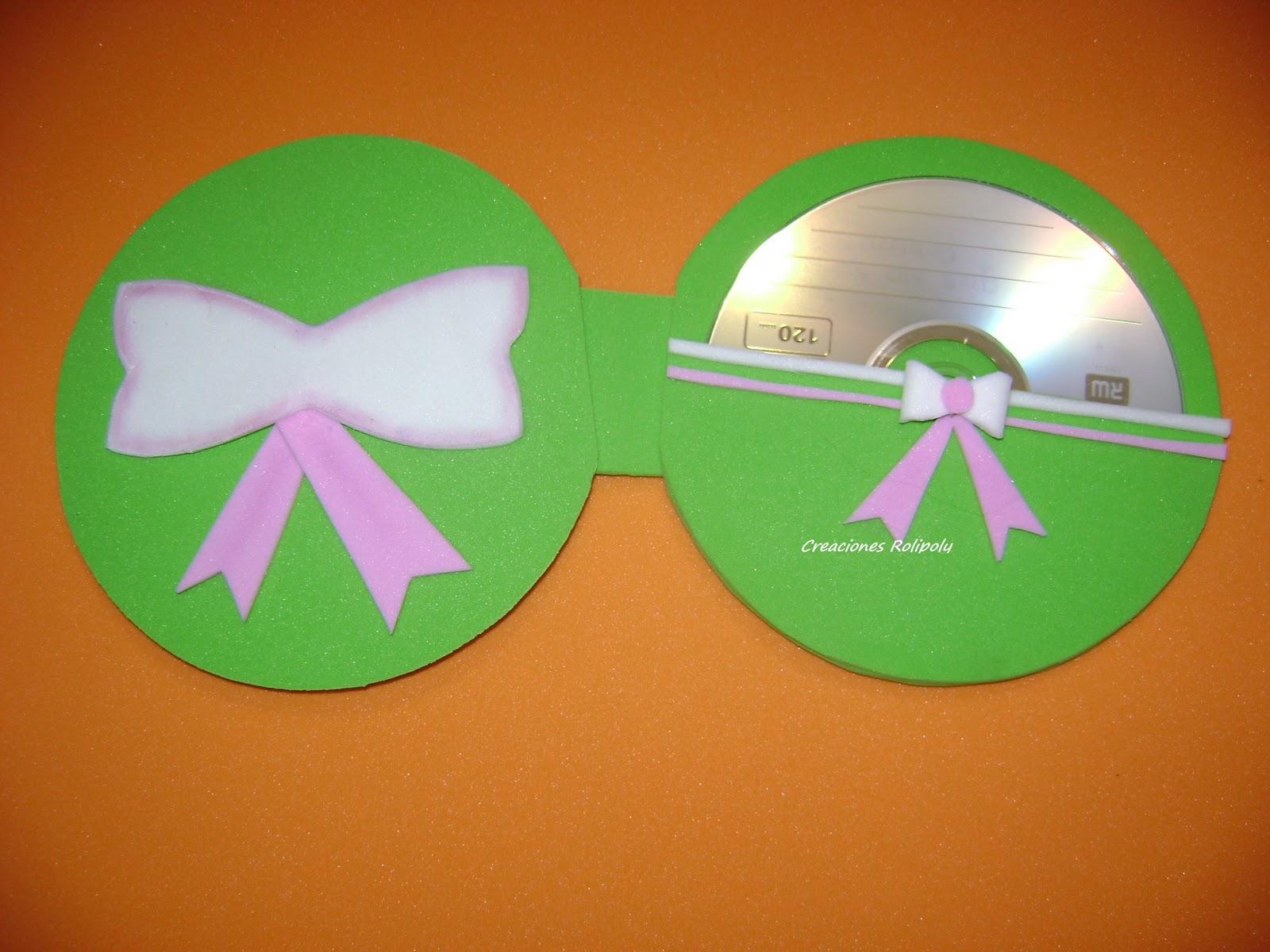 creaciones rolipoly: PORTA CD EN GOMA EVA