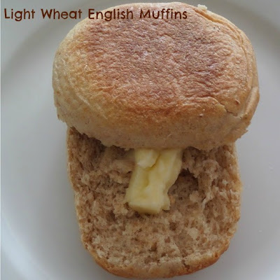 Light wheat English muffins