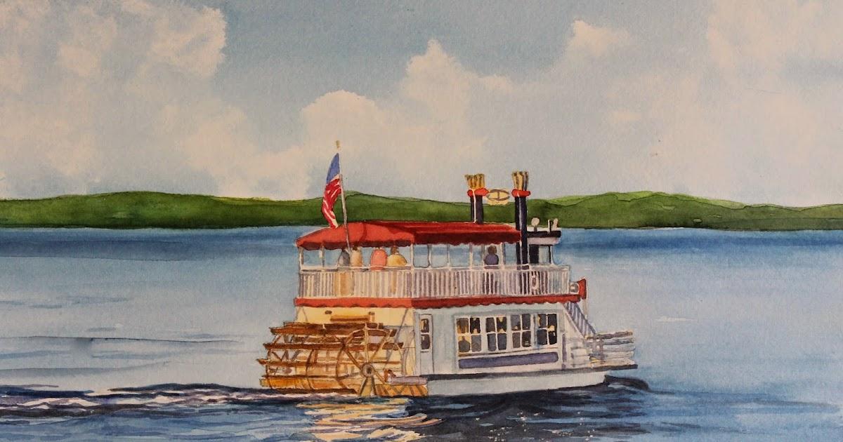 pat heintzelman watercolors the duchess on lake geneva. Black Bedroom Furniture Sets. Home Design Ideas