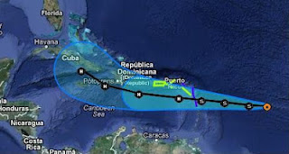 Tropischer Sturm ISAAC: Sturmwarnung Kleine Antillen und Puerto Rico, Isaac, Vorhersage Forecast Prognose, aktuell, Sturmwarnung, Kleine Antillen, Puerto Rico, Dominikanische Republik, Karibik, Atlantische Hurrikansaison, Hurrikansaison 2012, August, 2012,