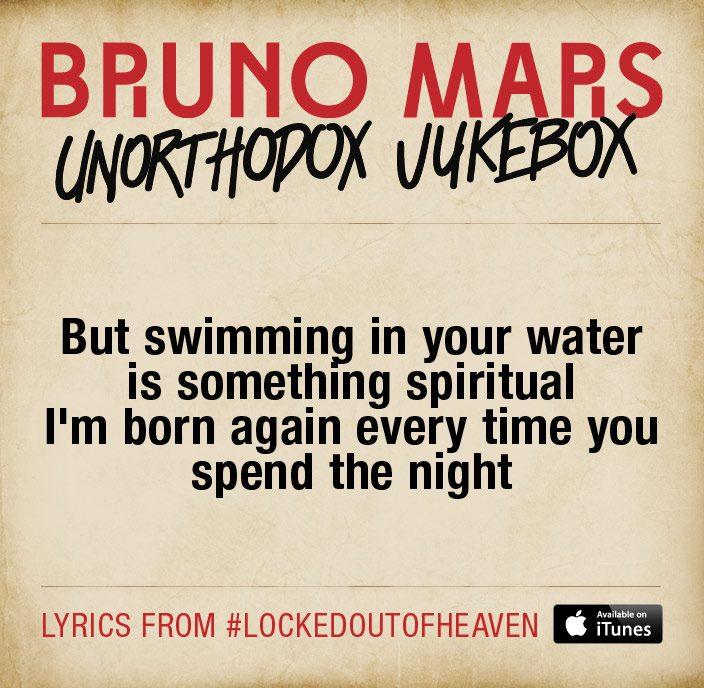 Bruno mars mania bruno mars locked out of heaven lyrics