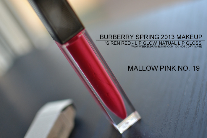 Burberry Spring Summer 2013 Makeup Collection Siren Red Indian Beauty Blog Lip Glow Natural Lipgloss Swatches Mallow Pink 19