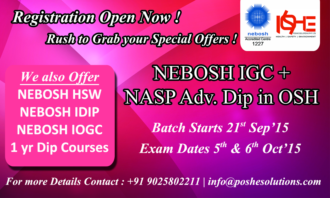 International Technical Certificate In Oil Gas Operational Safety Nebosh Award Health And At Workplace Diploma