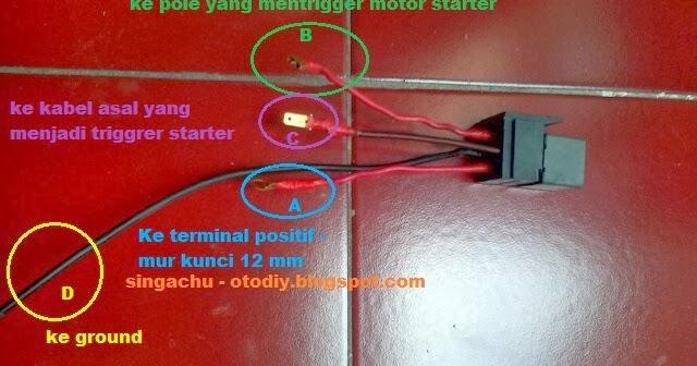 Diy   Membuat Dan Memasang Relay Motor Starter Aerio