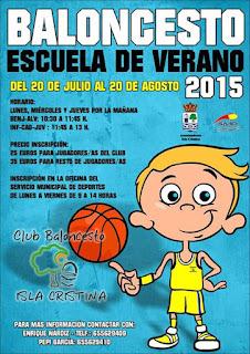 Abierta en Isla Cristina la inscripción para la Escuela de Baloncesto