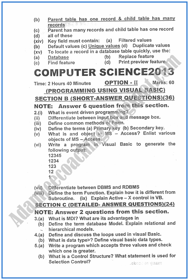 Computer-science-2013-past-year-paper-class-XII