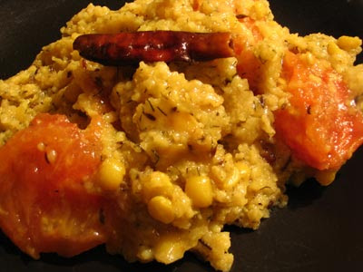 Simple Chana Dal, Dill and Tomato Khichri