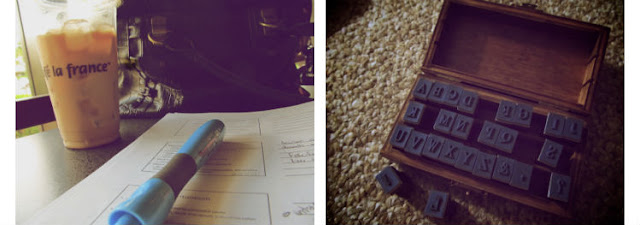 coffe studying stamping