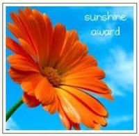 sunshine award ontvangen