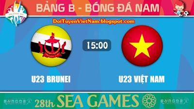 Trực tiếp U23 Việt Nam vs U23 Brunei ● Vòng bảng Seagame 28