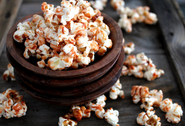 Cheerwine Caramel Corn recipe from cherryteacakes.com