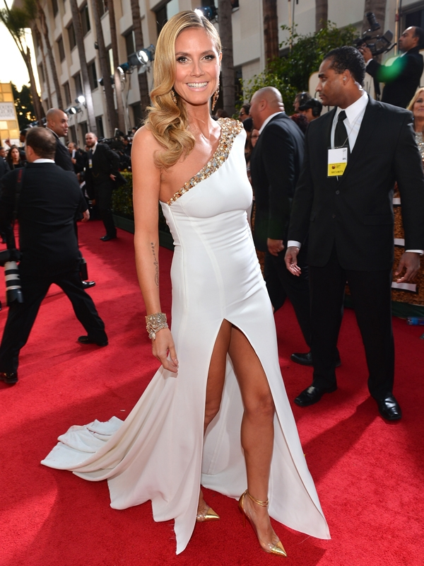 Heidi Klum narrowly escaped an uncomfortable wardrobe malfunction at