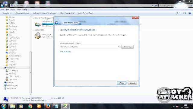 Tutorial deface dengan WebFolder Shell Upload Vulnerability