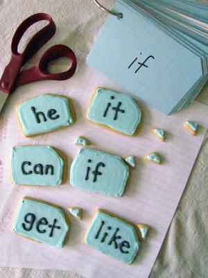 word card cookies