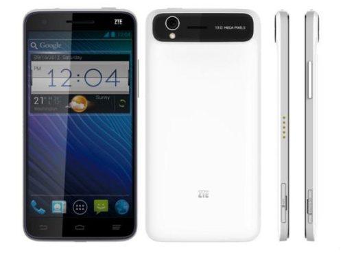 Zte mostra ufficialmente al CES 2013 il suo nuovo Phablet Android con display full hd da 5 pollici e Jelly Bean