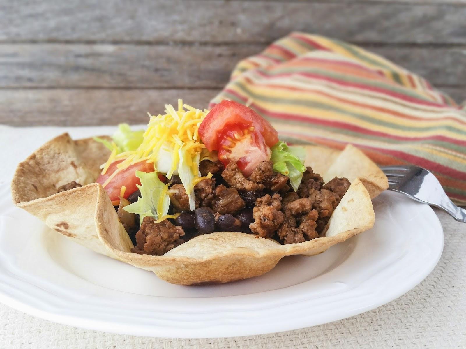 Turkey and Black Bean Taco Bowls
