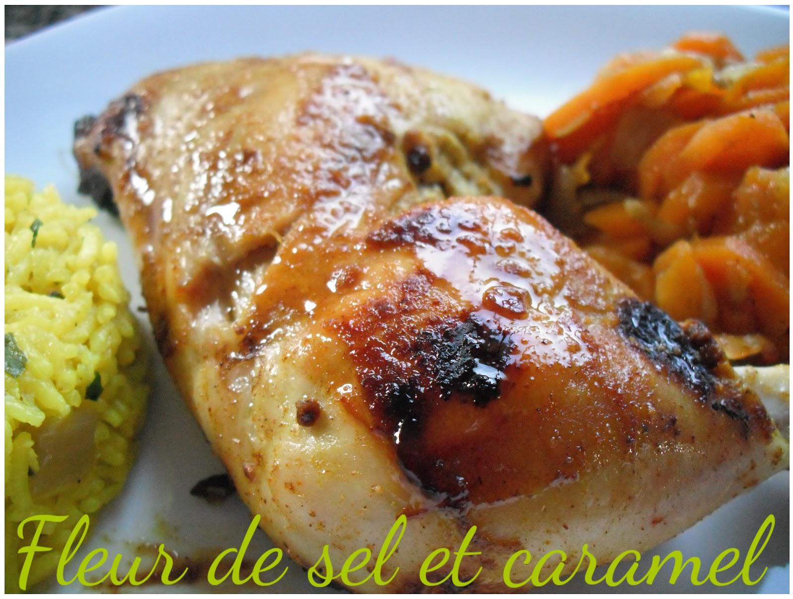 Fleur de sel et caramel cuisses de poulet marin es aux pices - Fleur de sel aux epices grillees ...