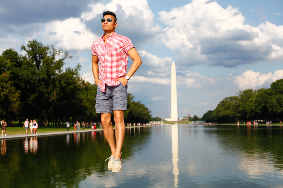 #WhereUNIQLO Levitate Style Washington DC | Summer Style Travel feat. Uniqlo, Menswear, Levitating, Washington Monument