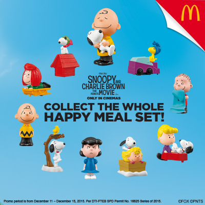 Snoopy And The Gang In Every McDonald's Happy Meal
