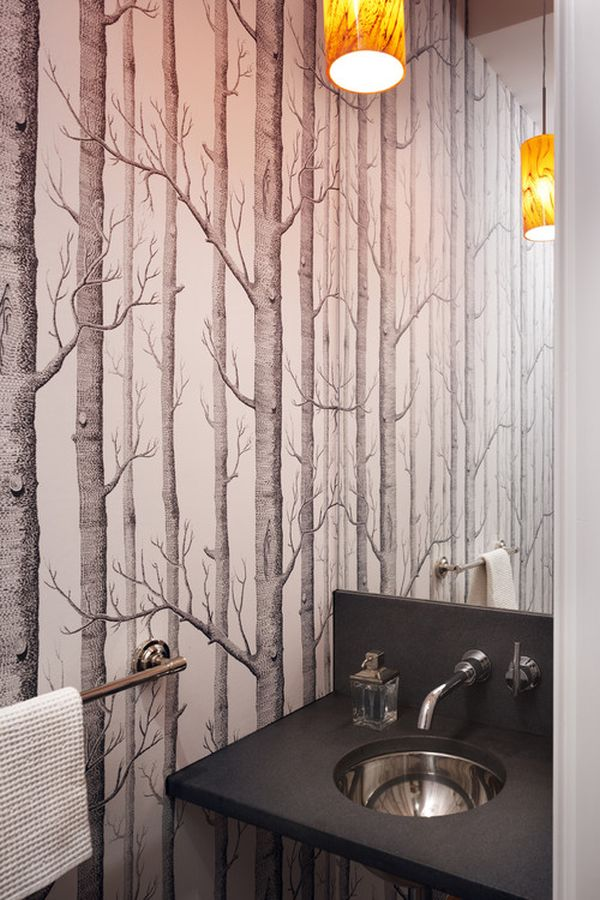 Bathroom Wallpaper Design : Perfect home papel de parede wallpaper cole son woods