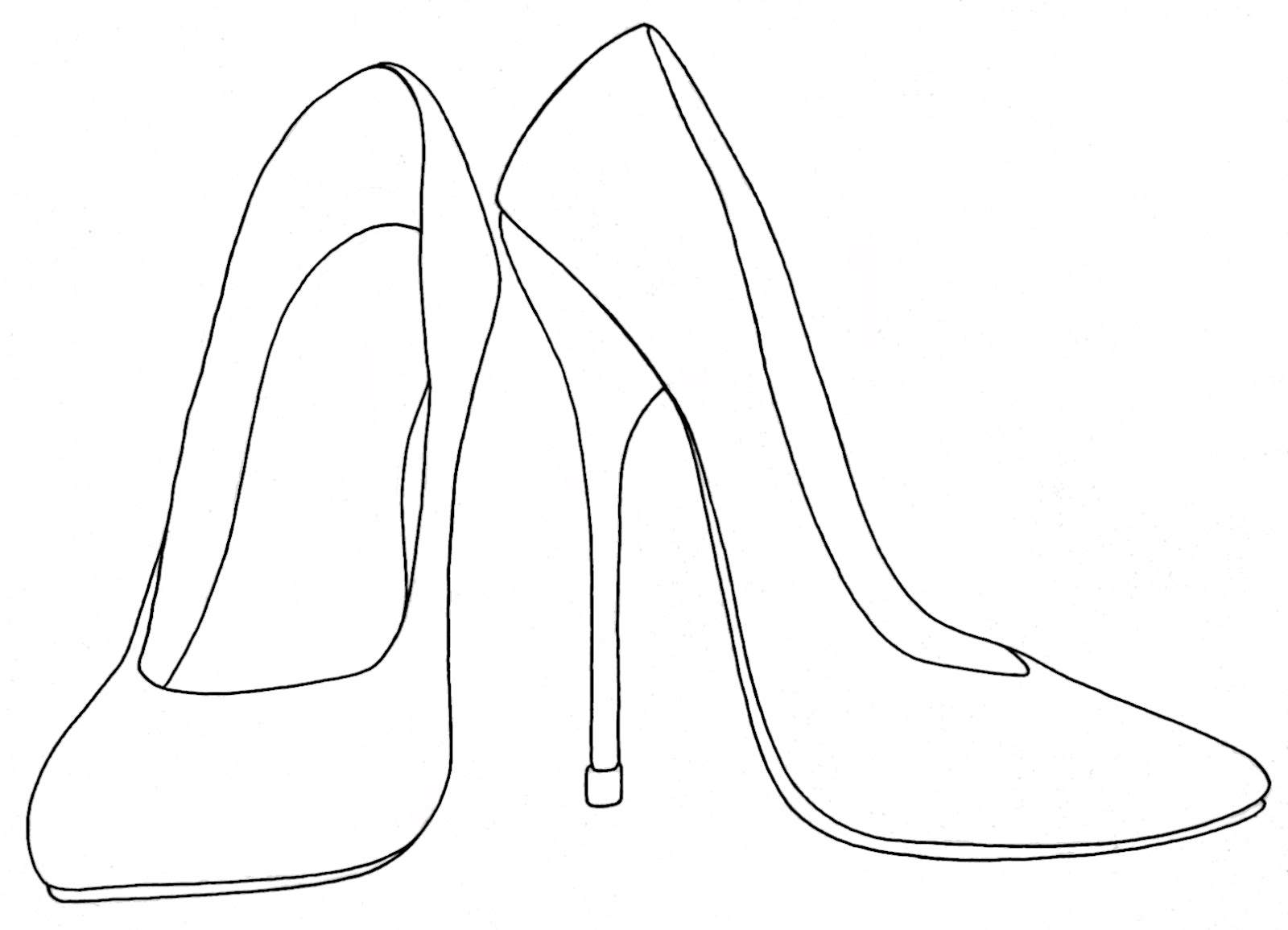 High Heel Shoesvector Stock