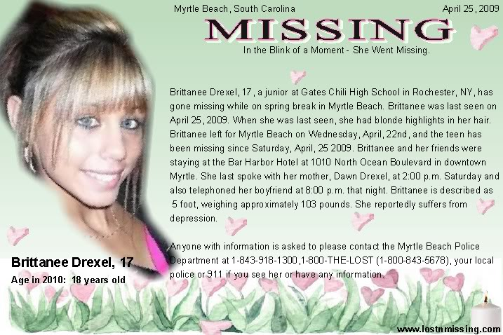 has information on what happened to brittanee drexel brittanee drexel