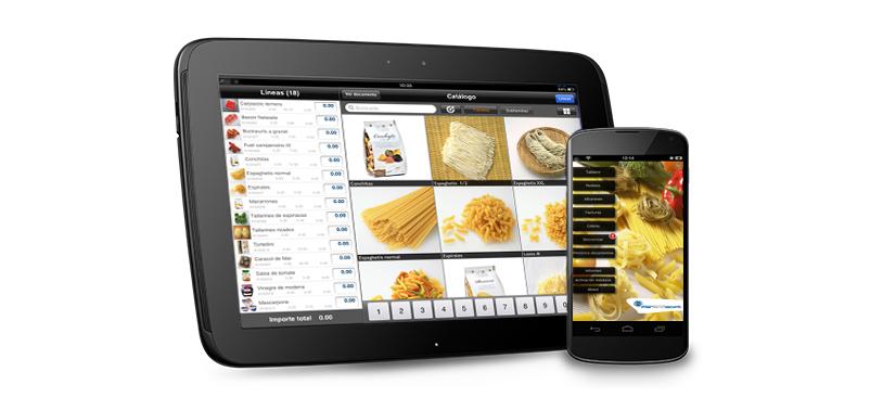 catalogo tablet tus productos en la palma la mano