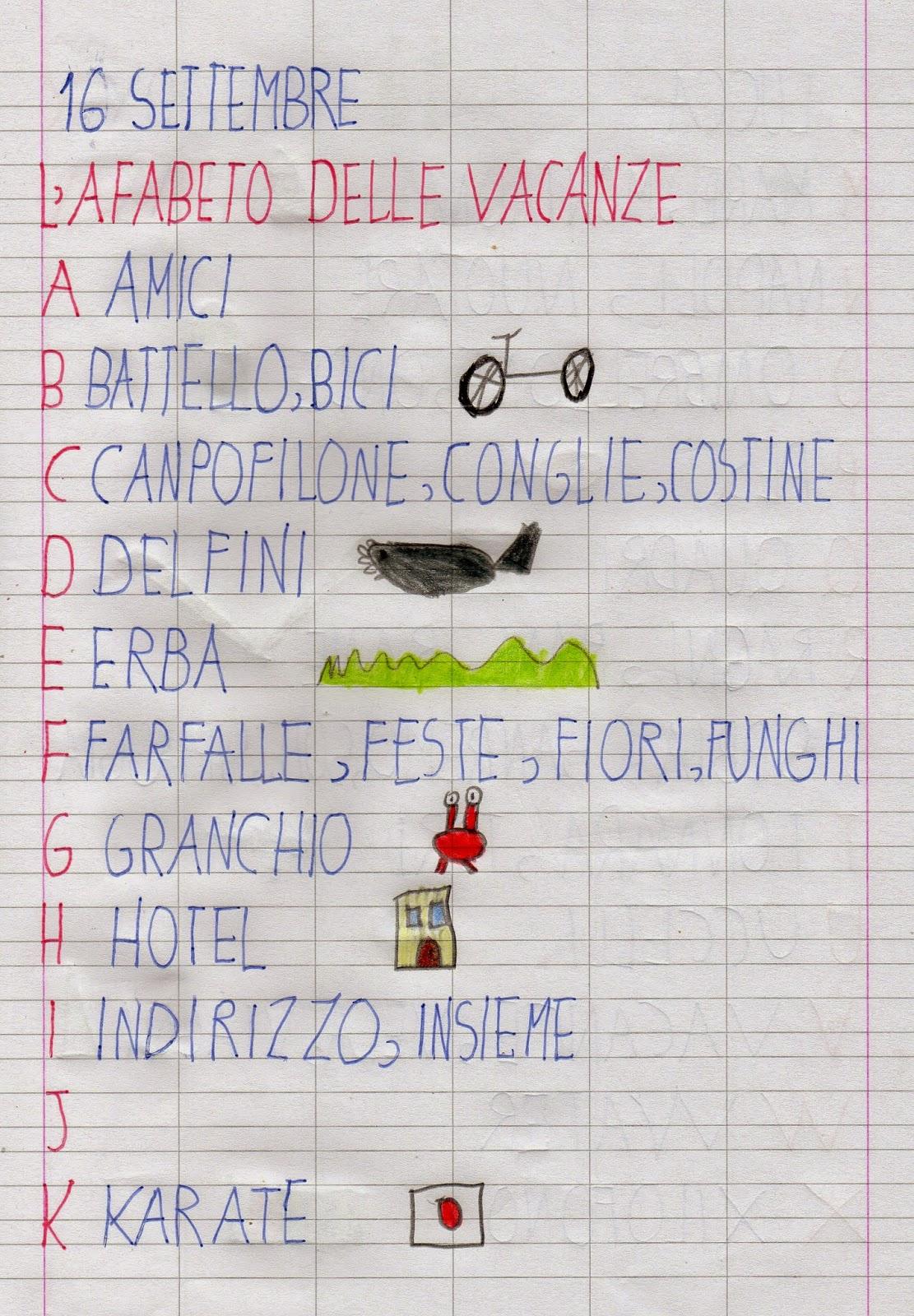 Apedario l 39 alfabeto delle vacanze - Parole con significati diversi ...
