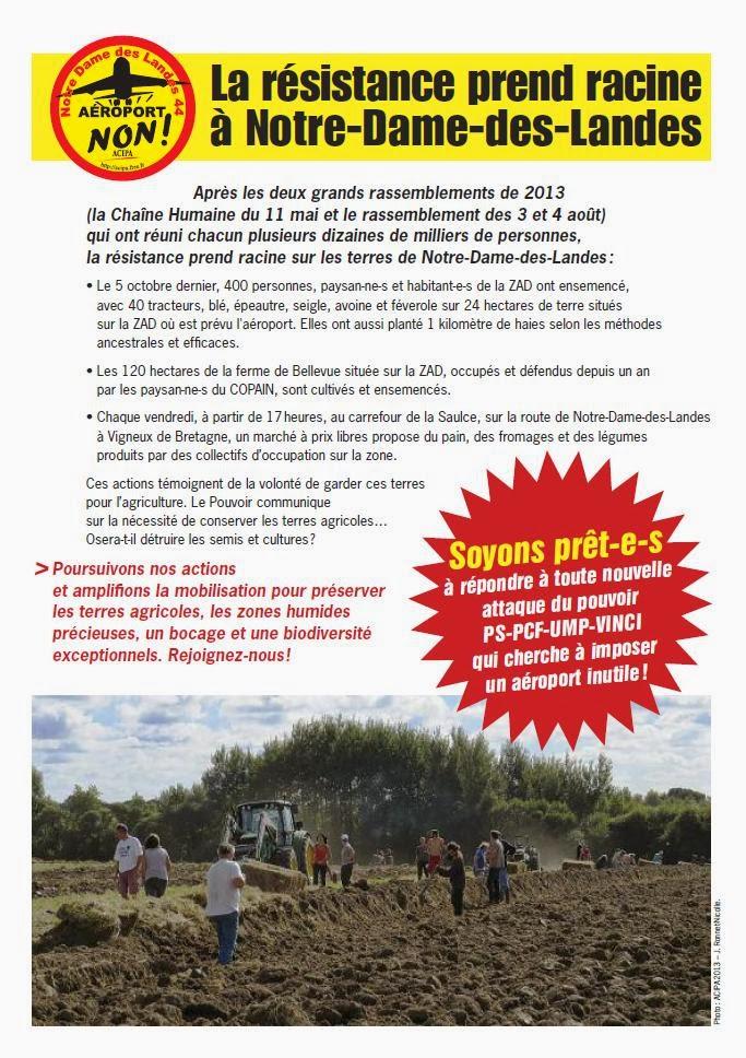 Tract coordination - La résistance prend racine à Notre-Dame-des-Landes - décembre 2013