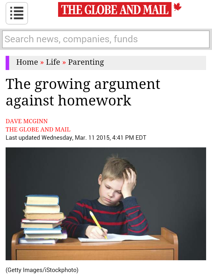 Some arguments for and against homework