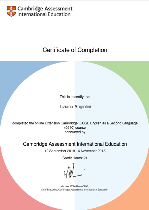 Course Extension Cambridge IGCSE English as a Second Language  - CAMBRIDGE ASSESSMENT INTERNATIONAL