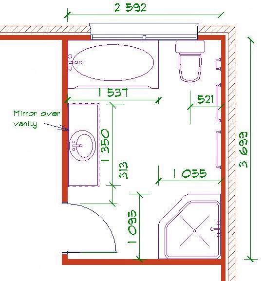 Bathroom design plans for Bathroom planner