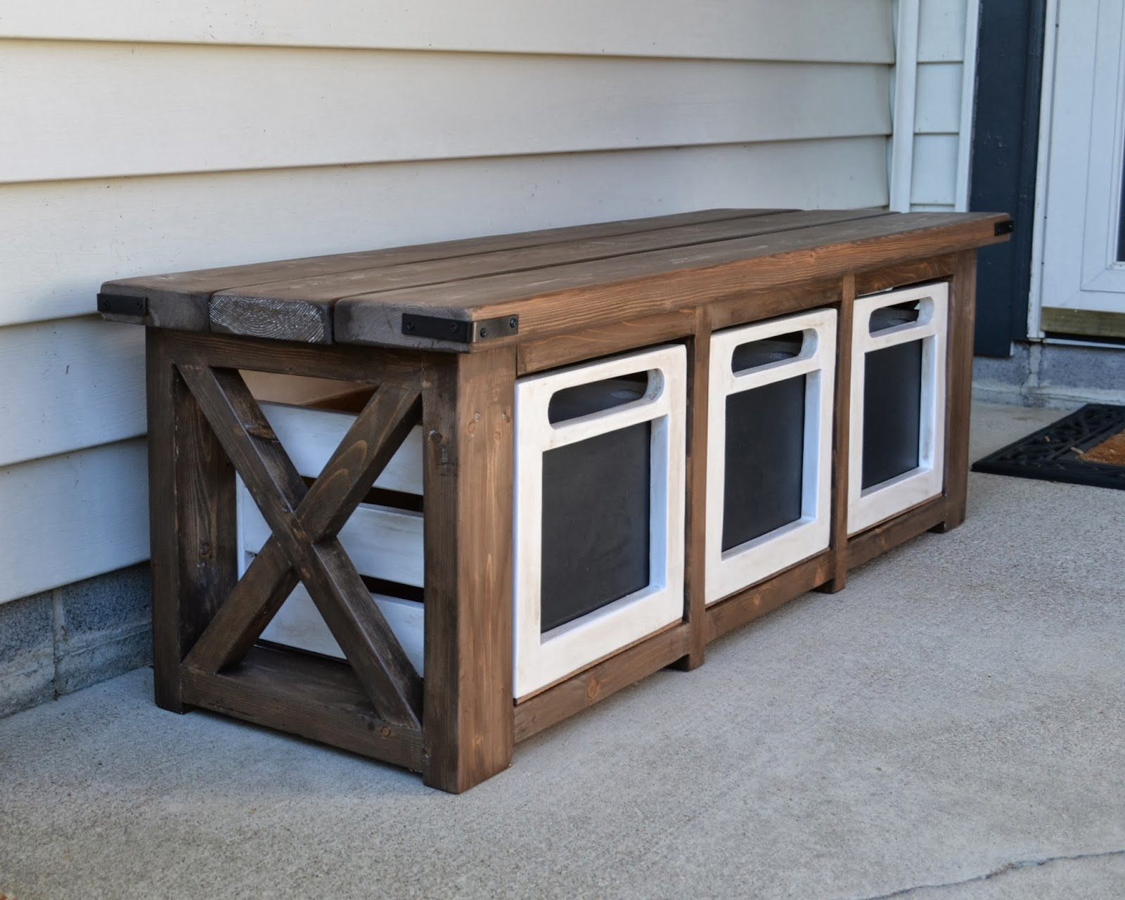Used Foyer Bench : The domestic doozie custom entryway bench with chalkboard