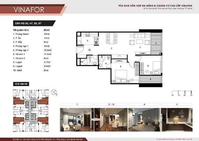 mặt bằng chi tiết căn hộ chung cư vinafor