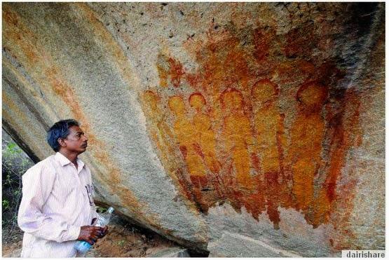 Lukisan Mahkluk Asing Berusia 10ribu Tahun Di Temui Di India