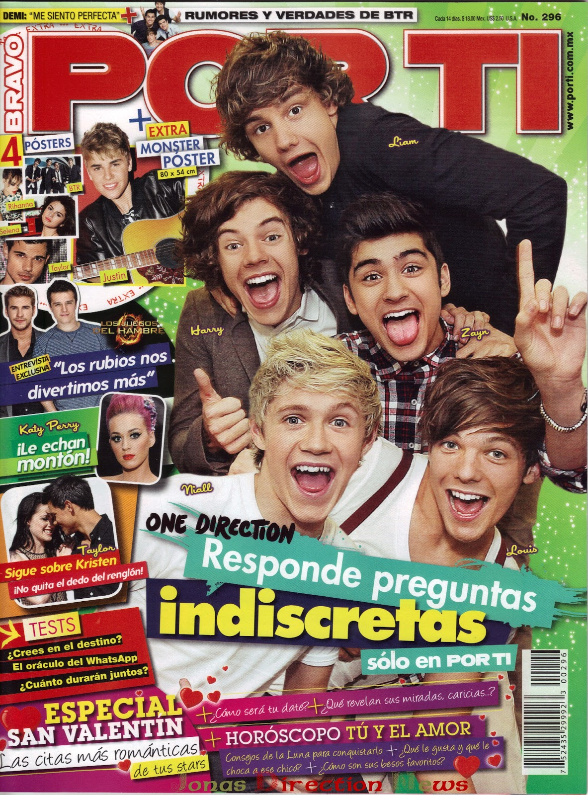 Jonas| Direction| News: One Direction en la revista Por Ti, México